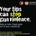 The Ottawa Police Service Guns and Gangs Unit and Crime Stoppers are seeking the public's assistance with information on a shooting that took place on November 23rd, at 4:50am on […]