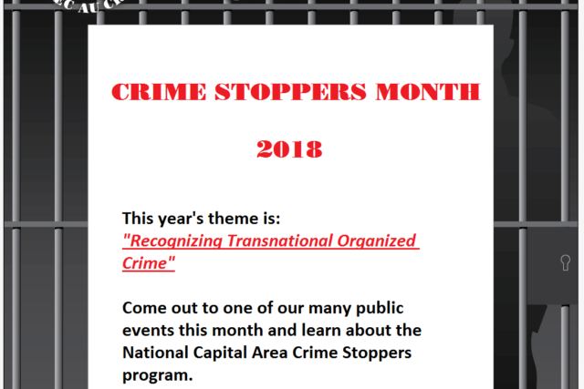 (Ottawa) – The National Capital Area Crime Stoppers is pleased to be participating in Crime Stoppers Awareness month this January. Crime Stoppers is a community-based tips program that allows members […]