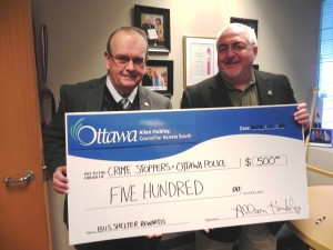 Councillor Hubley and Crimestoppers Ottawa