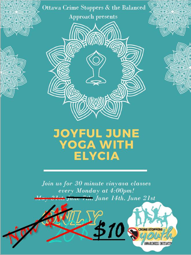 Joyful June Yoga with Elycia poster